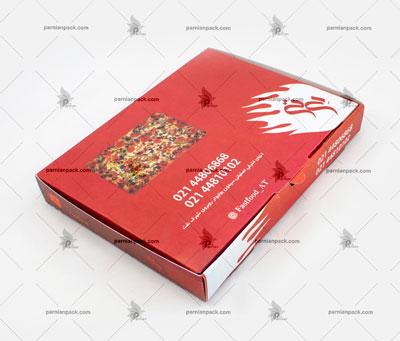 جعبه پیتزا پیده چاپ قرمز
