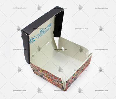 جعبه برگر چاپ اختصاصی مدل سفره ای2