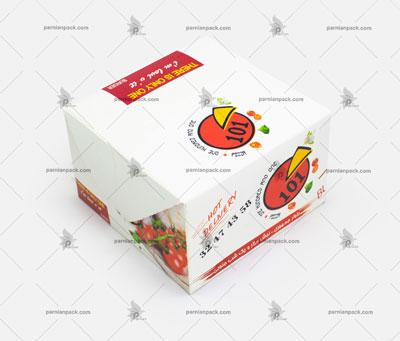 جعبه همبرگر چاپ اختصاصی لوگو