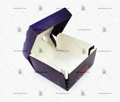 جعبه برگر چاپ اختصاصی آبی