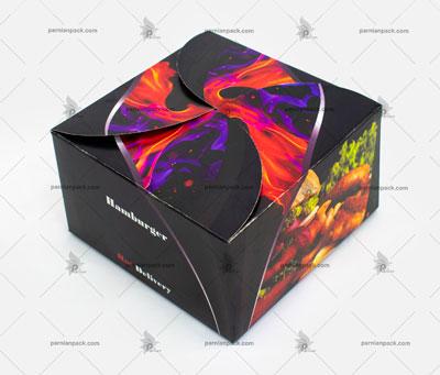 جعبه همبرگر چاپ طرح آتش