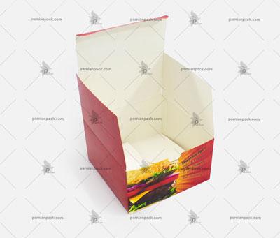 جعبه همبرگر چاپ قرمز