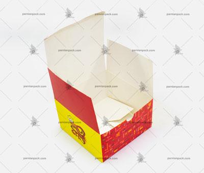 جعبه همبرگر درب از بالا چهار رنگ