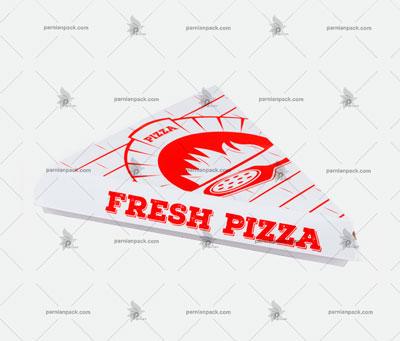 جعبه پیتزا مثلثی چاپ قرمز