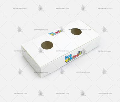 جالیوانی مقوایی 2 تایی سفید چاپ اختصاصی