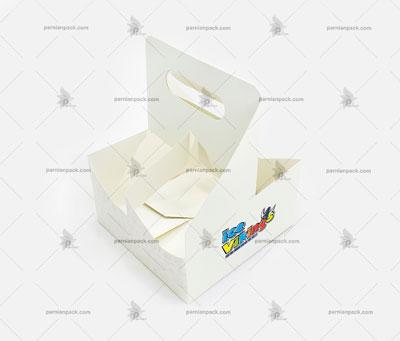 جالیوانی مقوایی سفید دسته دار چهار تایی 011
