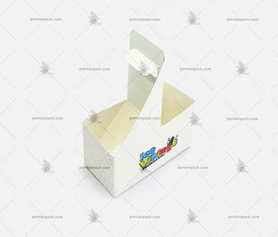جالیوانی مقوایی سفید دسته دار 2 تایی 012
