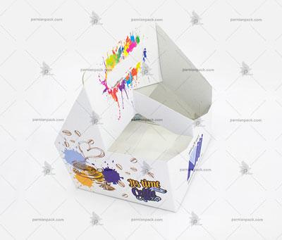 جالیوانی مقوایی سفید دسته دار چهار تایی 014