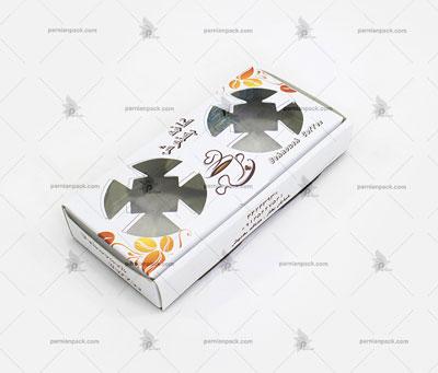 جالیوانی مقوایی جعبه ای 2 تایی سفید چاپ اختصاصی