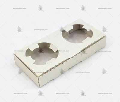 جالیوانی مقوایی جعبه ای 2 تایی سفید بدون چاپ
