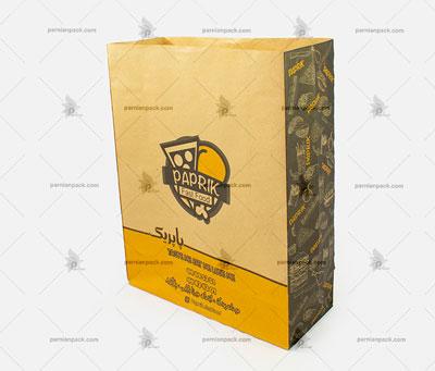 پاکت کرافت زرد و مشکی109