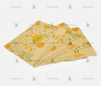 کاغذ کف سینی کرافت نارنجی