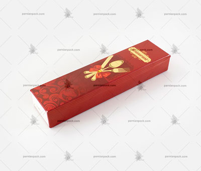 جعبه قرمز قاشق چنگال
