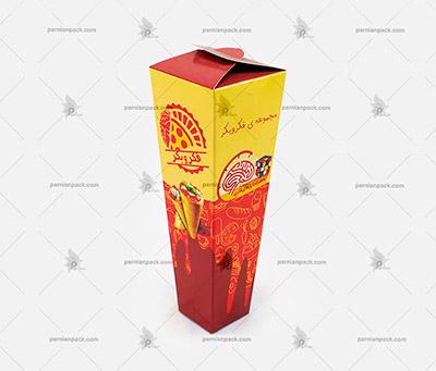 جعبه پیتزا مخروطی