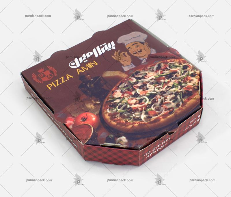 جعبه پیتزا شش ضلعی امین