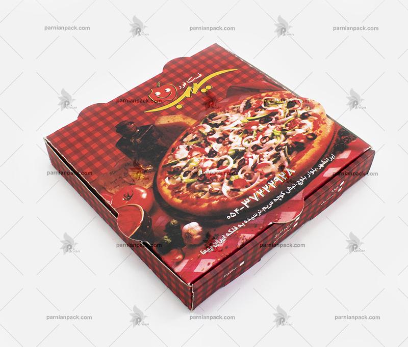جعبه پیتزا چهاررنگ سیب