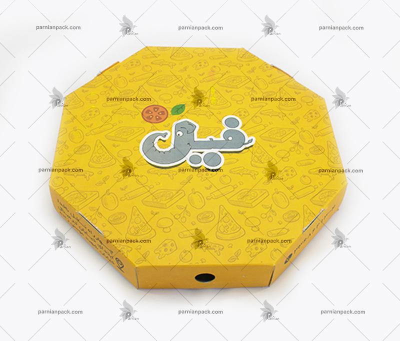 جعبه پیتزا هشت ضلعی فیل